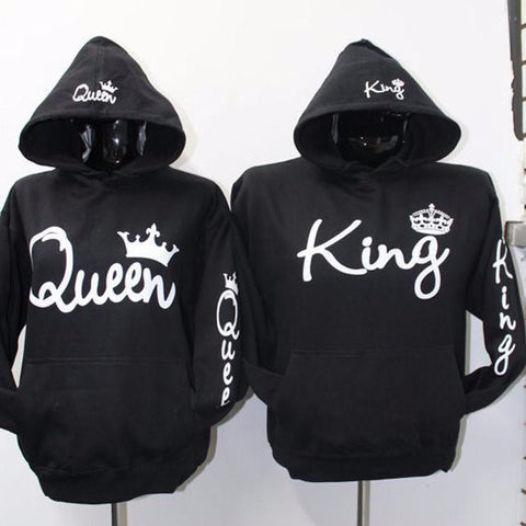 Premium Fashion Women Queen & Men King Hoodies