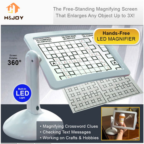LED Screen Page Magnifier Brighter Reading Viewer Screen