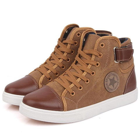 Exclusive Men Casual High Top Suede Leather  Shoes