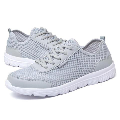 Fashion Breathable Flat Mesh Men Casual Lace Up High Quality Shoes