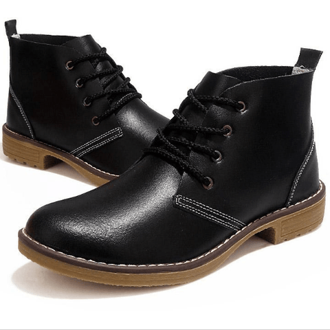 Genuine Leather Fashion Ankle-High Women Motorcycle Boots
