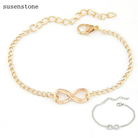New Women & Men Handmade Gift Charm 8 Shape Jewelry Infinity Bracelet