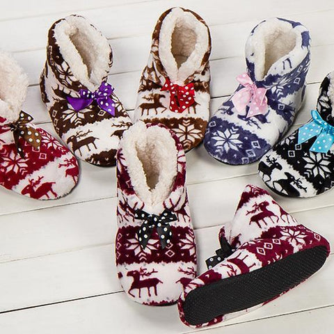 New Indoor Warm Winter Home Plush Flannel Slippers