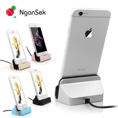 Elegant Desktop Dock Station for iPhone - Sync Data and Charge Phone