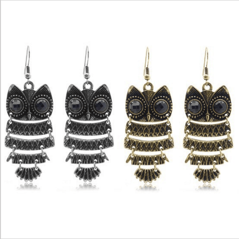 Stylish Retro Owl Luxurious Women Earrings
