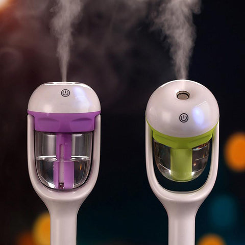 A Creative Car Charger Plug In Air Purifier Essential Oils Aroma Diffuser Steam Humidifier