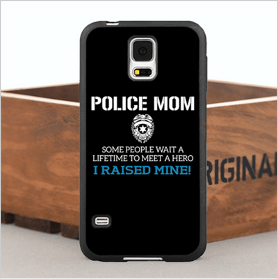 Police Mom Hard Phone Case For iPhone 6,6 Plus, 5, 5s, 5c,4, 4s and Samsung Galaxy Note 3, 4, S4,S5