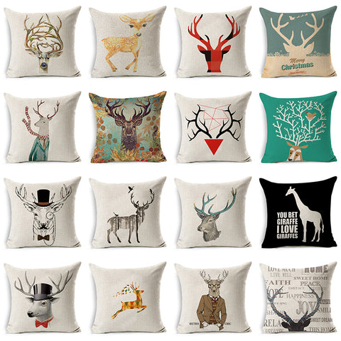 Super Comfortable Cotton Linen Pillowcase Decorative Cushion Cover