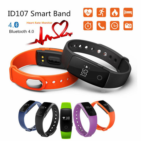 Smart Wristband  Watch, Pedometer, Heart Rate Monitor,Remote Bluetooth SMart Band Bracelet, Fitness SmartBand Reminder
