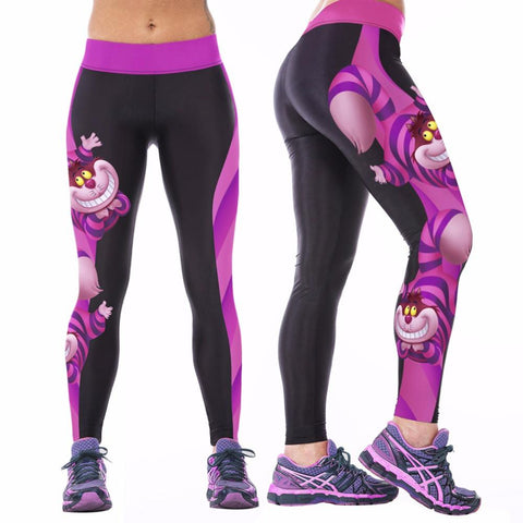 New Arrival Sexy Women Yoga, Gym Fitness Workout Digital Printing Sports Stretch Trouser Pants