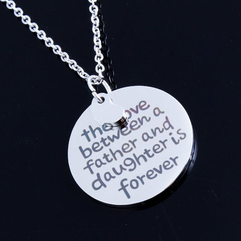 Stainless Steel Silver Heart Necklace The love between Mother and Daughter is Forever