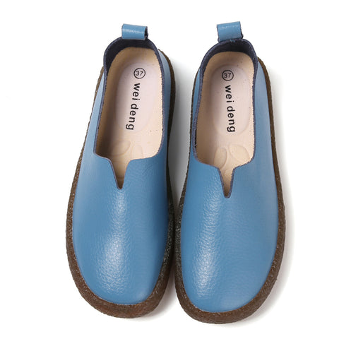 Genuine Leather Women Shoes, Flat Women Shoes, Comfortable Women Shoes