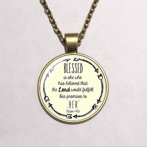 Blessed Christian Scripture Pendant Necklace