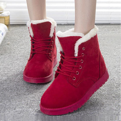 Warm Women Fur Fashion Boots Shoes