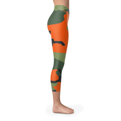 Hunter Orange Camo Capris