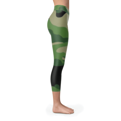 Forest Camouflage Capris