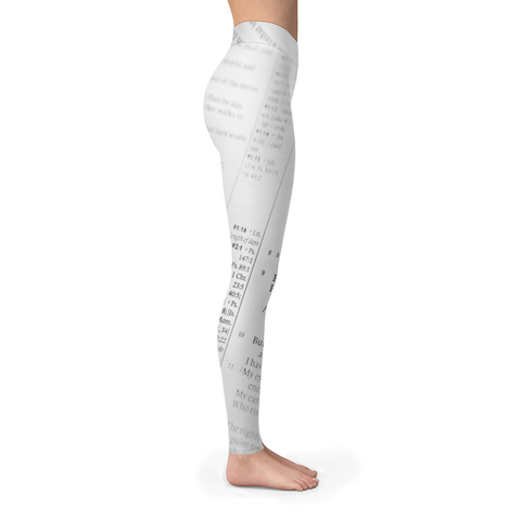 Black & White Bible Verses Leggings