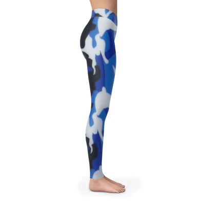 Navy Blue Camo Leggings