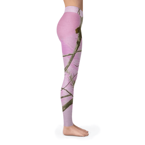Pink Tree Camo Leggings