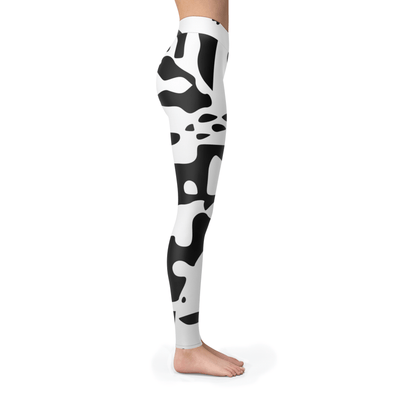 Black Pattern Camo Leggings
