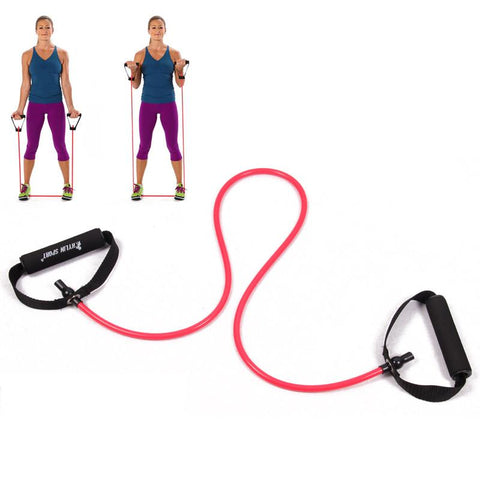 Yoga Exercise Fitness Workout Stretch Tube Cable Belt