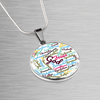Luxury Adjustable Necklace With White Bible Books Surgical Steel & Shatterproof Glass pendant