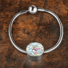Incredible White Bible Books Stainless Steel and Shatterproof Glass Charm Bracelet