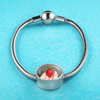 Incredible Strawberry Stainless Steel & Shatterproof Glass Charm Bracelet