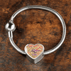 Incredible Light Brown Heart Shaped Charm Bracelet