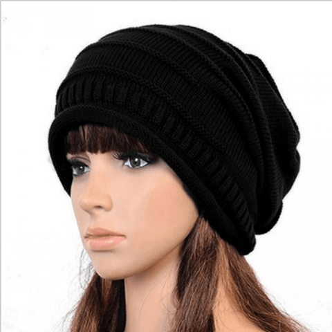 NEW Unisex Women Men Knit Baggy Beanie Hat Winter Warm Over-sized Ski Cap