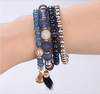 Women Multi Layer Design Fine Sterling Jewelry Bracelets & Bangles