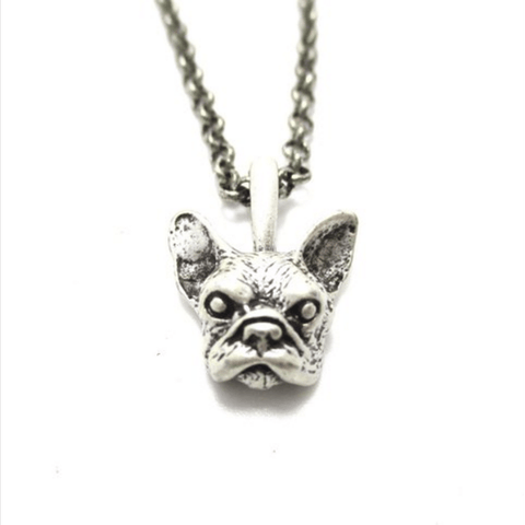 Bulldog Charm 3D Pendant Necklace
