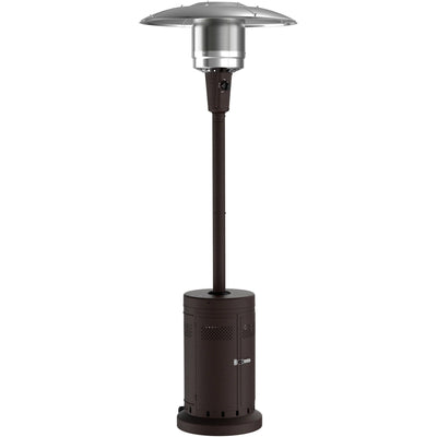 Mainstays Large Outdoor Patio Heater, Powder Coat Brown