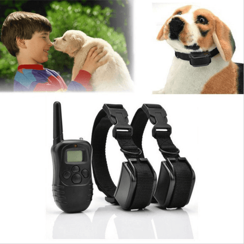 100LV Level Shock Vibra Remote 2 Dog Training Collar Rechargeable