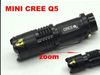 A Set of 6 PCS of Premium 1200 Lm LED 5Q Cree Adjustable Focus Zoom Flashlight