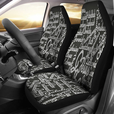 Custom-Made Holy Bible Books White Black Car Seat Cover
