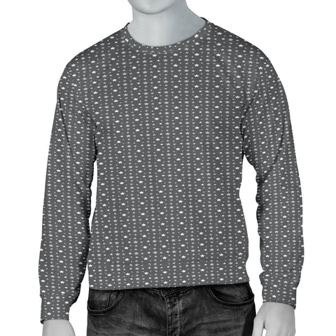 Handsome Grey Stars Men's Sweater