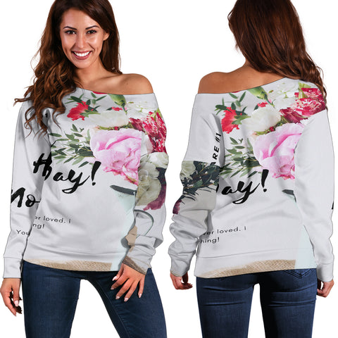 Happy Mom's Day Off Shoulder Sweater
