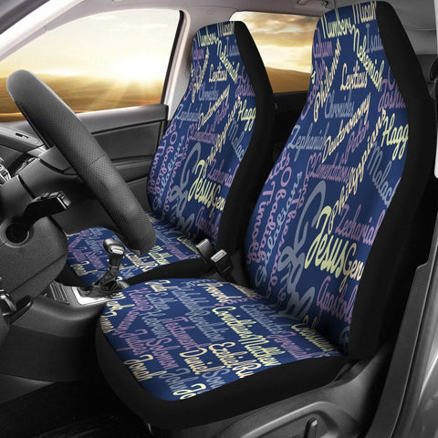 Custom-Made Holy Bible Books Blue Car Seat Cover