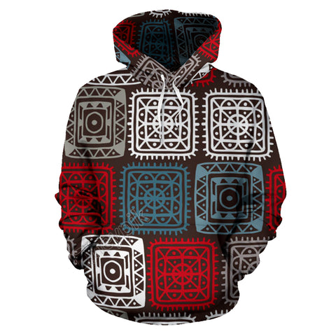 Colorful Squares All Over Hoodie