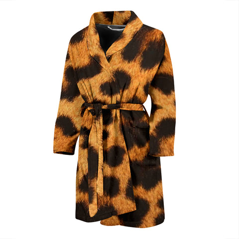 Leopard Patched Men's Bathrobe
