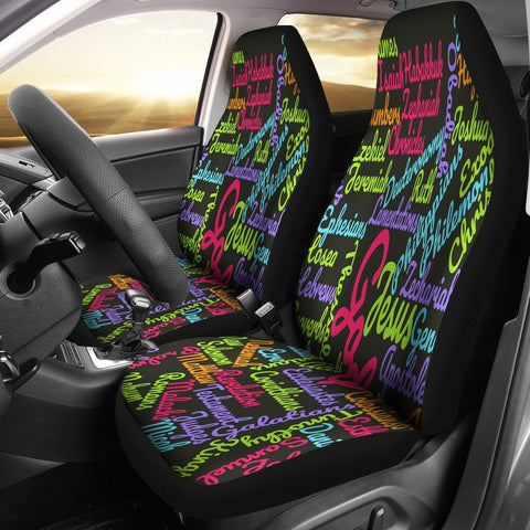 Custom-Made Holy Bible Books Pink Mixed Colors Car Seat Cover
