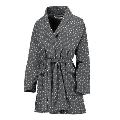 Pretty Grey Stars Women's Bathrobe
