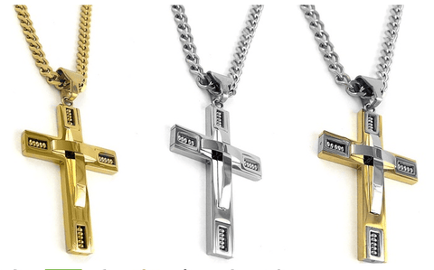 Men's Stainless Steel Cross Necklaces
