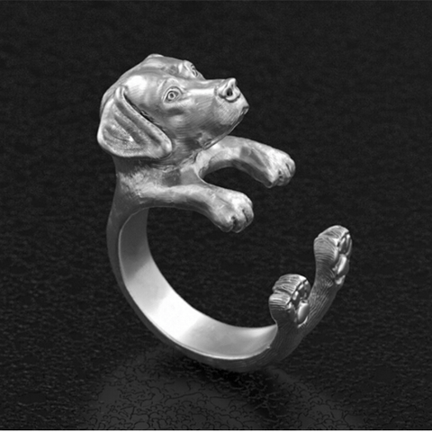 Retro Handmade Labrador Retriever Ring