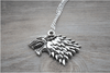 Game Of Thrones Vintage Stark Direwolf Silver Pedant Necklace