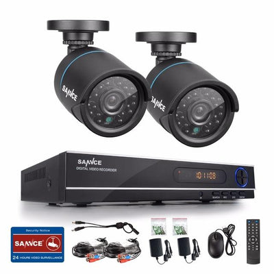 New 1080N HD high resolution 8CH CCTV Video security system 2pcs micro camera  survelliance kit IR outdoor weatherproof