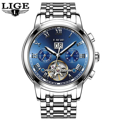 Top Brand Luxury Automatic Mechanical  Full Steel Business Waterproof Sport Men Watch