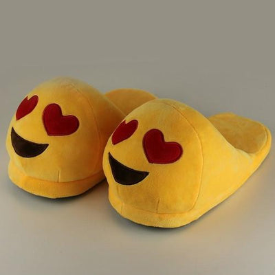 Cute & Funny  Plush Indoor Home Emoji Warm Slippers