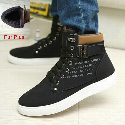 Hot Fashion High Top Warm Canvas Men Shoes